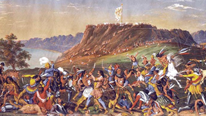 The Natchez attack the French