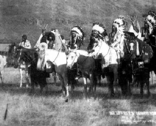 Nez Perce warriors.