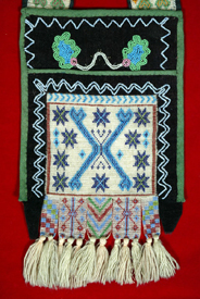Ojibwa Bandolier bag in the permanent collection of The Children�s Museum of Indianapolis, Indiana, circa 1900.