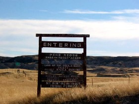 Pine Ridge Reservation in South Dakota