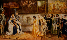Pocahontas meets King James, by Richard Rummels, 1907