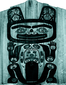 Totem carving in Alaska
