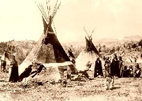 Shoshone camp