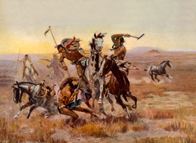 Sioux and Blackfoot Warriors