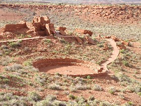 Wupatki National Monument near Flagstaff, Arizona,