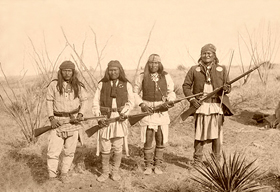 Geronimo and warriors, 1886