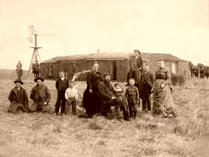 Comstock Nebraska Homesteaders, 1887 by S.D. Butcher