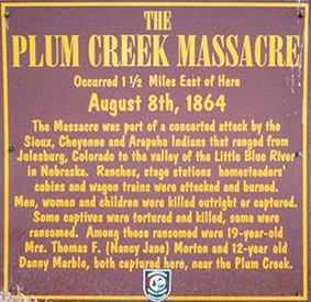 Plum Creek Massacre Marker