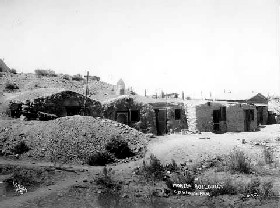 Dugout houses in Goldfield, Nevada