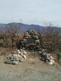 "Frank ""Shorty"" Harris grave in Death Valley"