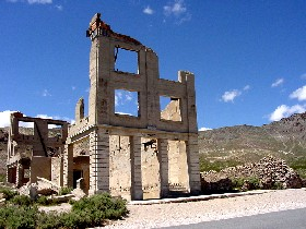 Cook Bank in Rhyolite, Nevada