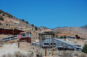 Mining remnants in Silver City, Nevada