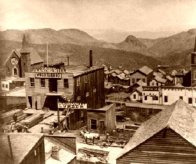 Virginia City, nevada, 1866
