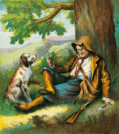 Rip Van Winkle and his dog