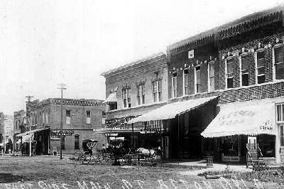 Vintage photograph of Afton, Oklahoma