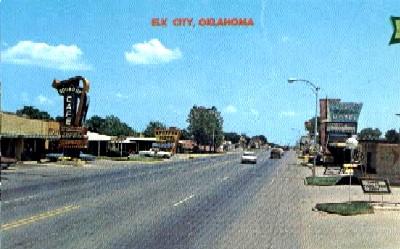 Elk City, Oklahoma Vintage Postcard