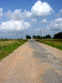 Route 66 - Nine foot road in Oklahoma