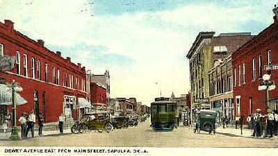 Vintage Sapulpa, Oklahoma postcard