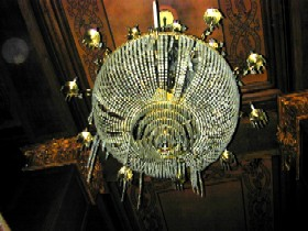 Chandelier in the Skirvin Hotel, Oklahoma City, Oklahoma