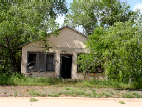 Abandoned home in Texola, Oklahoma
