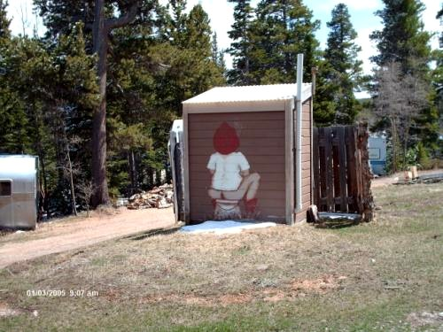 Outhouse at a colorado cabin submitted by georganna zachary july