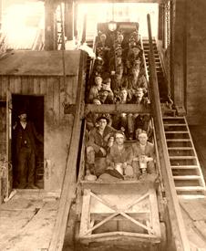 Copper miners in Michigan