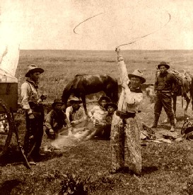 Fancing roping in 1906.