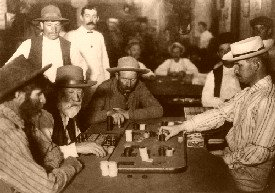 Playing Faro in the days of the Old West