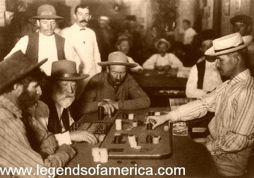 Playing Faro in an Arizona Saloon in 1895.