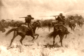 Indian Fighters, 1907 by Frederic Remington