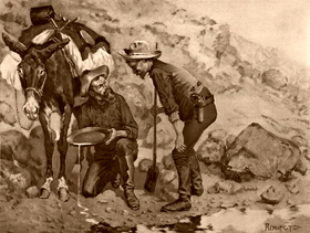 Miner's Prospecting by Frederic Remington