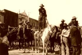 Cowboy Scene, Newton, Kansas, 1908
