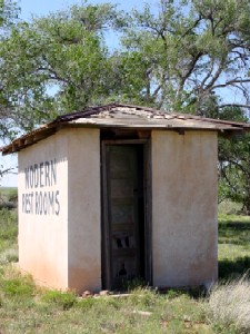 Outhouse in Endee, New Mexico
