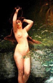 Nude Saloon Painting