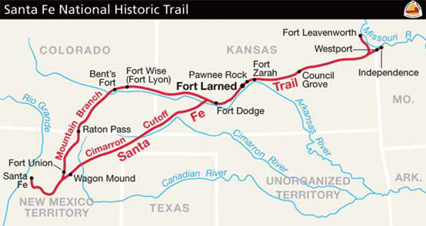 Santa Fe Trail Map