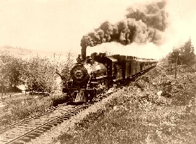 Santa Fe Railroad Train, 1900