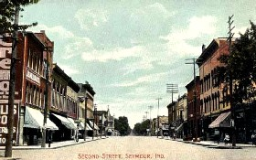 Seymore, Indiana historic postcard