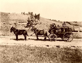 Stagecoach with Guard.