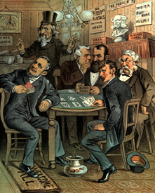 Playing Poker, 1884