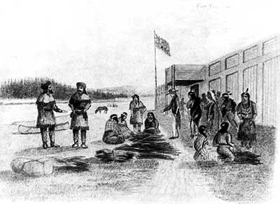 Trading with the American Fur Company in 1841