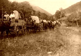 Headed West in a Covered Wagon