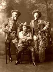 William F. Cody, Pawnee Bill, & Buffalo Jones, around 1910