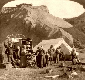 Camping in the Wyoming Badlands, 1904.