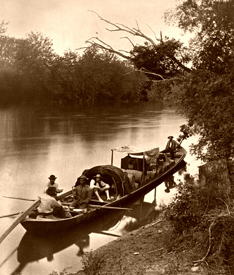 Keelboat, by Jedediah Hotchkiss, 1872