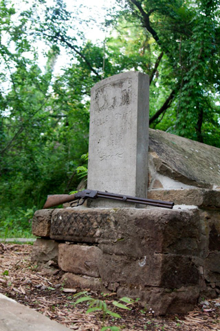 Belle Starr's reconstructed grave, Photo by Kassey Weaver Photography