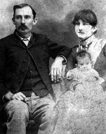 Jim Miller with wife, Sallie and child