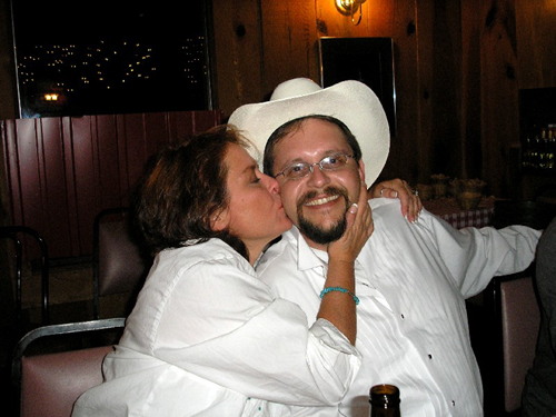 Kathy Kissing her Cowboy Dave