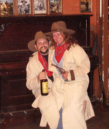 Dave and Kathy at Big Nose Kate's Saloon in Tombstone, Arizona