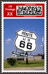 Route 66 Postage Stamp