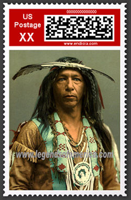 Native American Postage Stamp